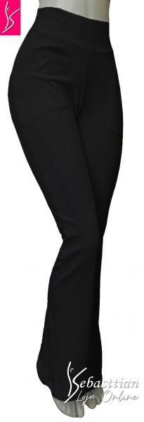 calça social bolsos (46), tecido crepe de malha, gramatura média, várias cores