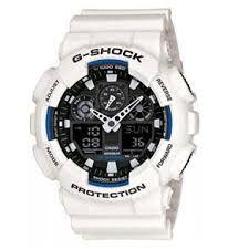 c4853f70fd0 Relógio Casio G-Shock GA-100 WR-200 Branco