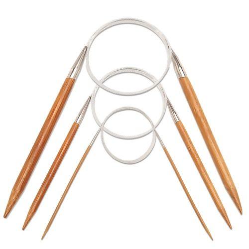 Agulha Circular de Bambu - 100 - n10