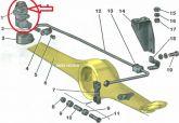 Valvula Equalizadora de Freio Traseira Niva (Nova) Ref. 0116