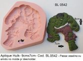 Super Herói Hulk Vingadores Avengers com 9x7cm