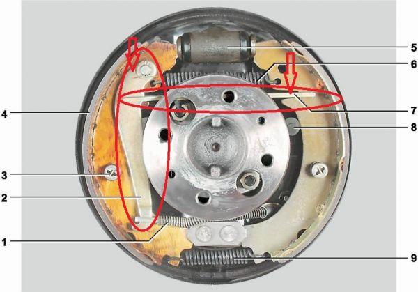 Alavanca da Sapata freio Traseira Manual + placa espaçadora usado LE Niva (ref. 0922)