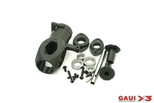 Gaui X3 - Caixa de Cauda c/ Engrenagens, Rolamentos e Eixo do Rotor COD 216119