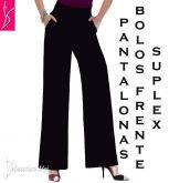 calça pantalona plus com bolsos(56/58-60/62)