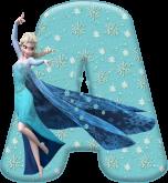Alfabeto - Frozen Vestido de Gala 5 - PNG