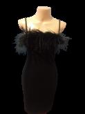 vestido de festa plumas