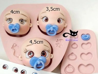 kit Combo trigêmeos c/ olhos resinados