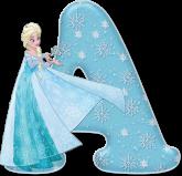 Alfabeto - Frozen Vestido de Gala 8 - PNG