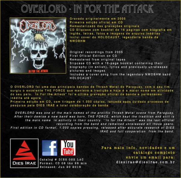 OVERLORD - In For the Attack (CD)