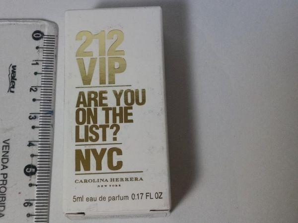 Miniatura Perfume 212 Vip  5 ml Carolina Herrera