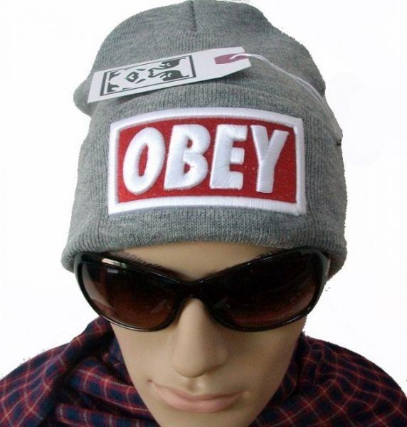 Touca Obey Cinza estilo SWAG - Grifes Importadas fdc6e2885e9