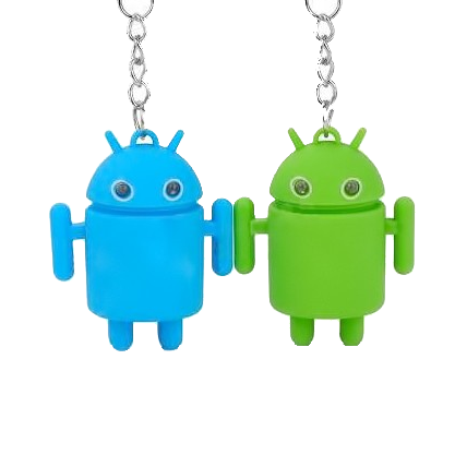Kit com 12 Chaveiros Android