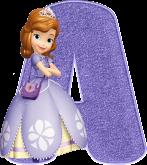 Alfabeto - Princesa Sofia 5 - PNG