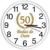 Relógio De Parede Bodas De Ouro