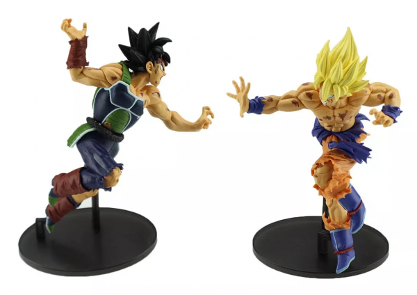 Figure Action 2 Bonecos Goku + Bardock Dragon Ball Z