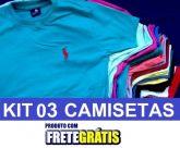 Kit 03 Camiseta Basica De Marcas Variadas