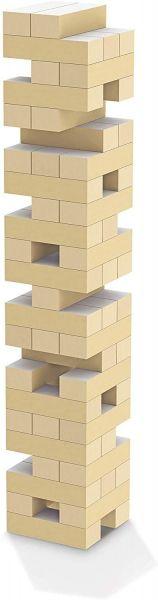 Jenga Jogo de Atenção e Equilíbrio Montar Torre com Blocos + Dado - 30cm