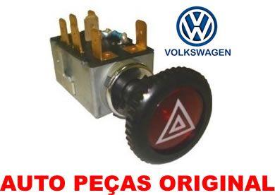 858bc2aed50 INTERRUPTOR DO PISCA ALERTA ORIGINAL VW 111.953.235.1 1119532351 FUSCA  BRASILIA KOMBI COMPLETO.