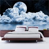 Adesivo de Parede Nuvens sob o Luar