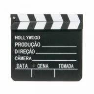 Claquete Madeira Decorativa Cinema 30cm