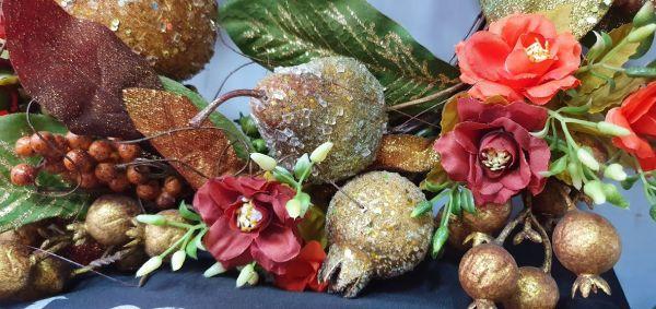 Guirlanda Frutas Secas e Flores