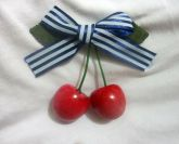 Presilha Pin Up Cherry Blue