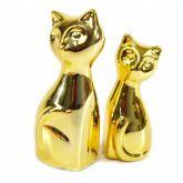 Enfeite Decorativo Gatinhos de Cerâmica