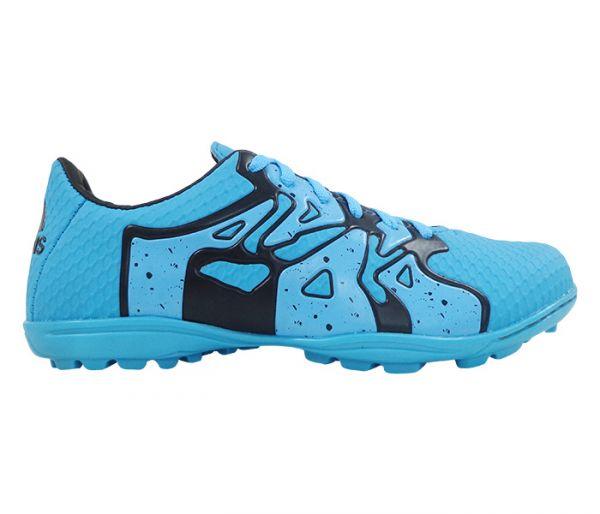 Chuteira Society Adidas X 15.4 Azul Bebê e Preto - App Box 6b9822d3104bd