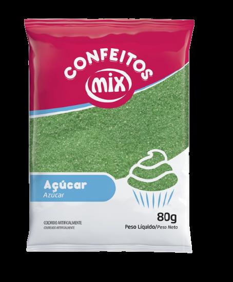 Açúcar colorido Verde Mix 80g 1un
