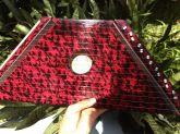 Mini Harpa Cítara Vermelha Nova 1ª+2ª+3ª+4ª+5ª 50 Partituras