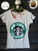 Tee We Love Coffee { Cinza }
