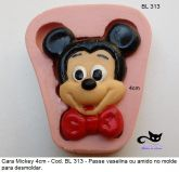 Rosto Mickey com 4cm