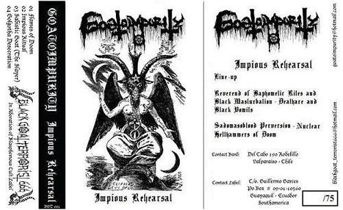 GOATOIMPURITY - Impious Rehearsal - CASSETE