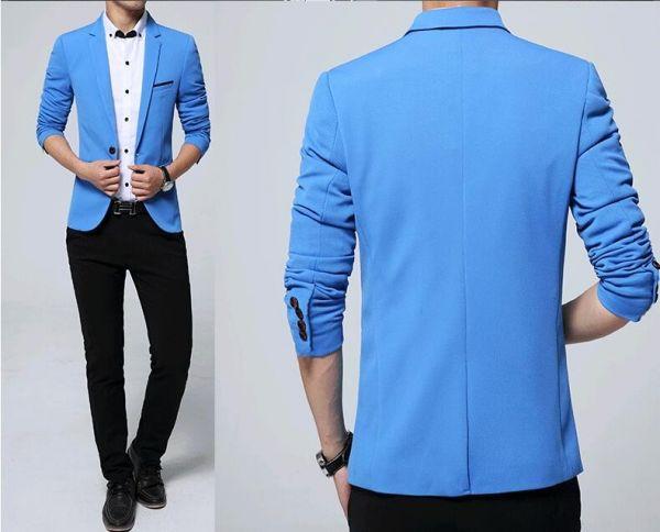 7b958f8d33 Blazer Masculino Formal Casual EleganceMan - Azul claro - Ref. Blz02 ...