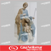 080003 - Imagem de Louça Jesus e Maria com Cajado