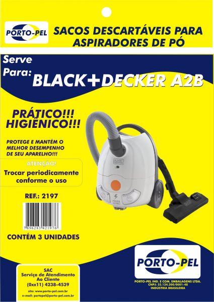 COD. 2197 - SACO DE ASPIRADOR DE PÓ BLACK + DECKER A2B / A2A
