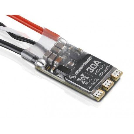 ESC HobbyWing Xrotor 30A BLHeli-S & Dshot600 (Suporta 2S á 4S)