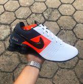 45a0eabf15 Tênis Nike Shox Deliver Branco c  Vermelho