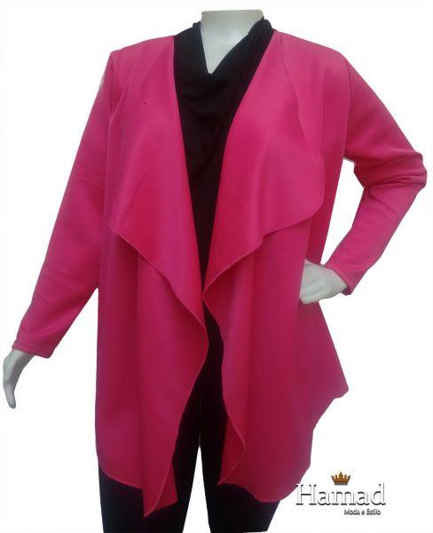 cardigan neoprene plus size  48/50 pink