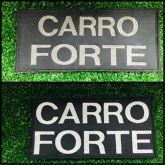 BORDADO COSTA CARRO FORTE CINZA / BRANCO 19 X 9,5