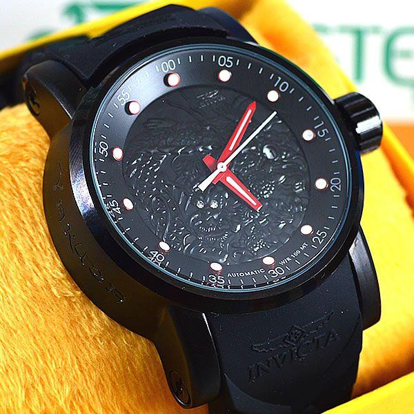 b0d53fc9b91 Relógio Invicta Yakuza Preto Pulseira Preta Masculino à prova D´água ...