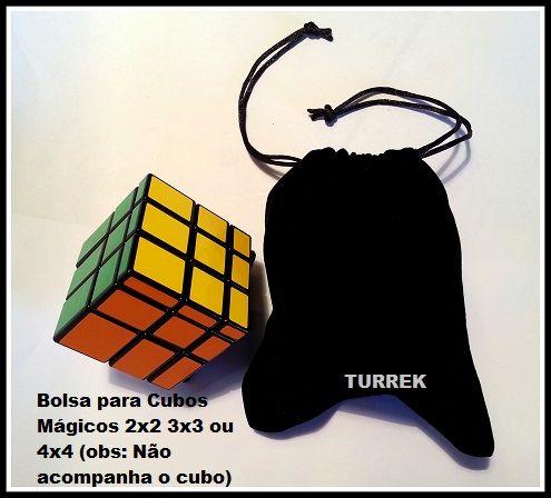 Bolsa de veludo preta para Cubo Magico