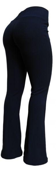 Calça bailarina/flare  azul marinho (GG-46) tecido gorgurinho azul escuro