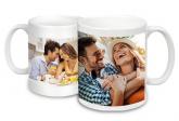 2 Canecas de porcelana branca personalizadas