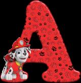 Alfabeto - Patrulha Canina - Marshall 3 - PNG
