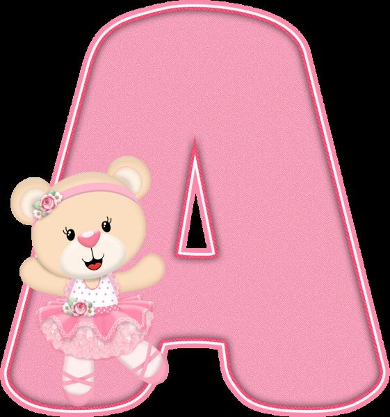 Alfabeto - Ursinha Bailarina 1 - PNG
