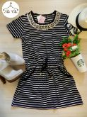 Vestido Stripes | Listras [ Bordado Maxi Colar ]