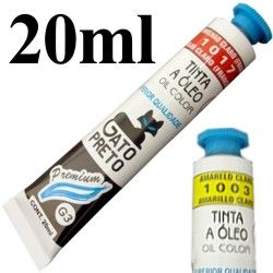 Tinta a óleo 20ml Gato Preto G2; G3
