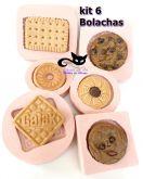 Kit 6 bolachas ( galak, cookie, traquinas, mousse, redonda, retangular )