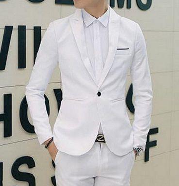 cd418aa44f Blazer Masculino EleganceMan - Formal Casual Branco - MW01 - EleganceMan